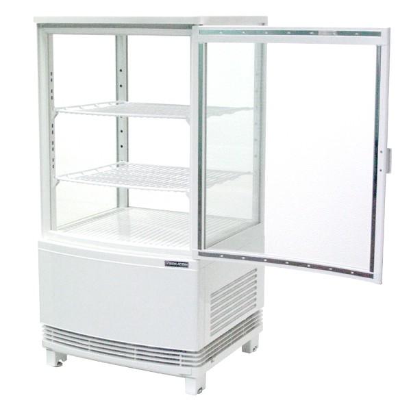 4面ガラス冷蔵ショーケース 前開きタイプ