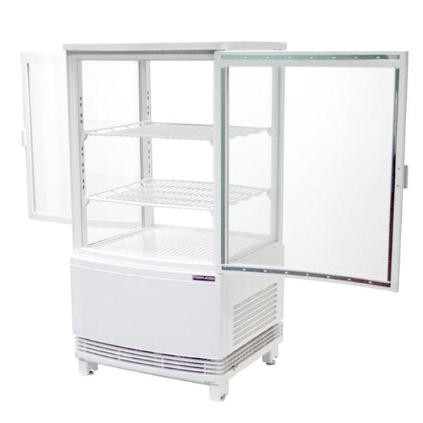 4面ガラス冷蔵ショーケース 両面開きタイプ