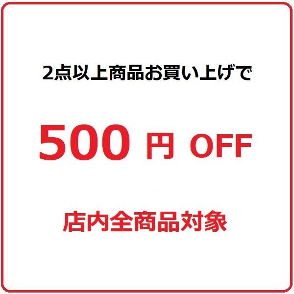 商品を2点以上ご購入で使える500円割引クーポン