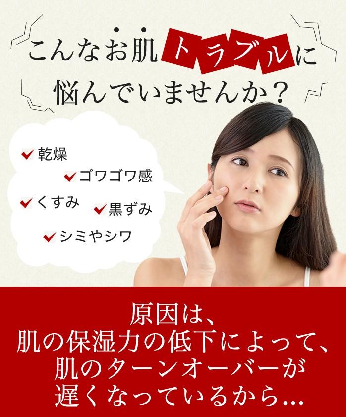 原因は、肌の保湿力の低下によって、肌のターンオーバーが遅くなっているから...