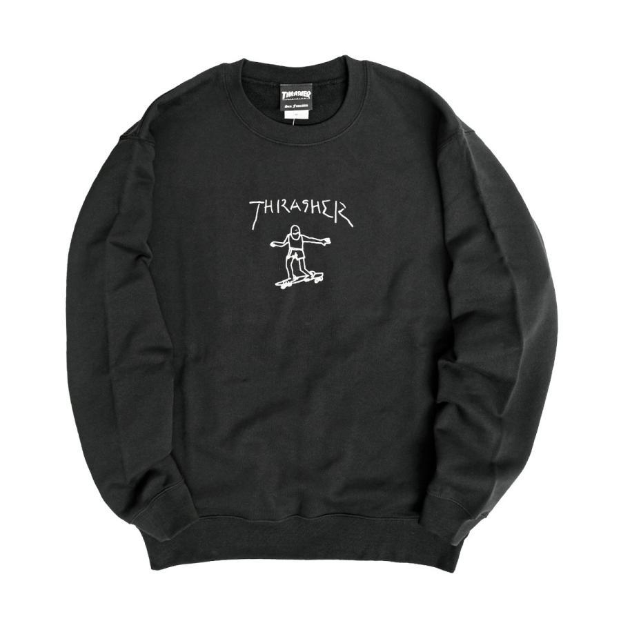 THRASHER スウェット スラッシャー ゴンズ ロゴ プリント トレーナー クルーネック GONZ CREW SWEAT THRASHER-154 renovatio 10
