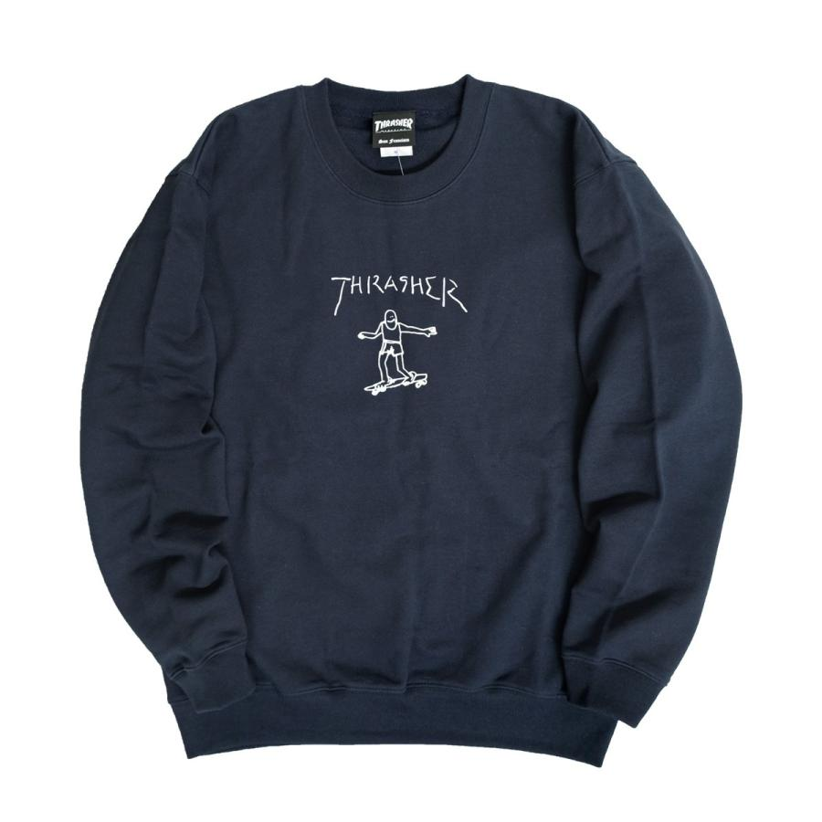 THRASHER スウェット スラッシャー ゴンズ ロゴ プリント トレーナー クルーネック GONZ CREW SWEAT THRASHER-154 renovatio 13