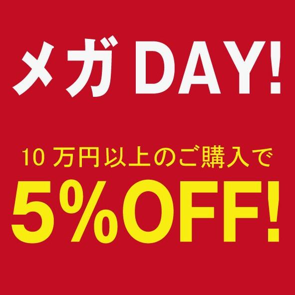 13日26日はメガDAY!10万円以上ご購入でその日に使える5%OFFクーポン