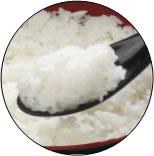 尾西の白飯の調理例
