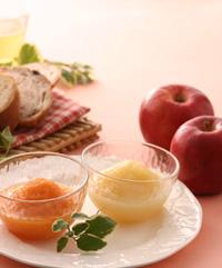 ベターホームのおろしりんごの缶詰 盛り付け例