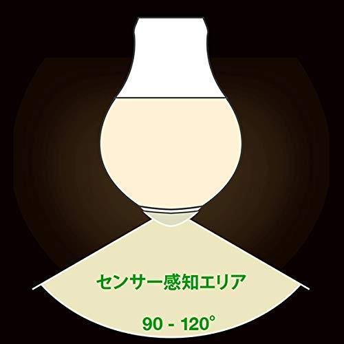 暗い時に人の動きを感知して点灯します