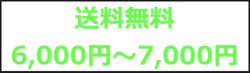 送料無料6,000円〜7,000円