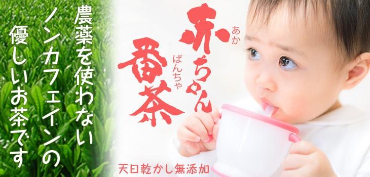 農薬を使わないナチュラルで優しいお茶。生後二か月の赤ちゃんにも飲ませられる赤ちゃん番茶