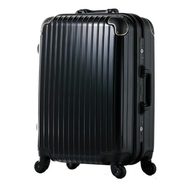 スーツケース Mサイズ 4輪 軽量 キャリーケース フレーム ABS+ポリカーボネイト 3日 rexstar 08