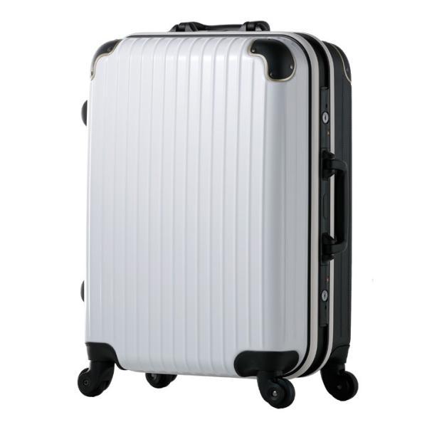 スーツケース Mサイズ 4輪 軽量 キャリーケース フレーム ABS+ポリカーボネイト 3日 rexstar 10