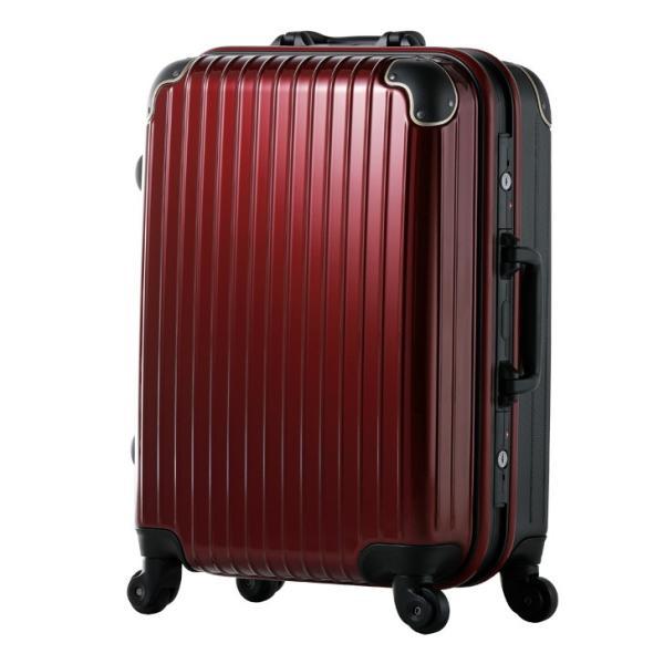 スーツケース Mサイズ 4輪 軽量 キャリーケース フレーム ABS+ポリカーボネイト 3日 rexstar 09
