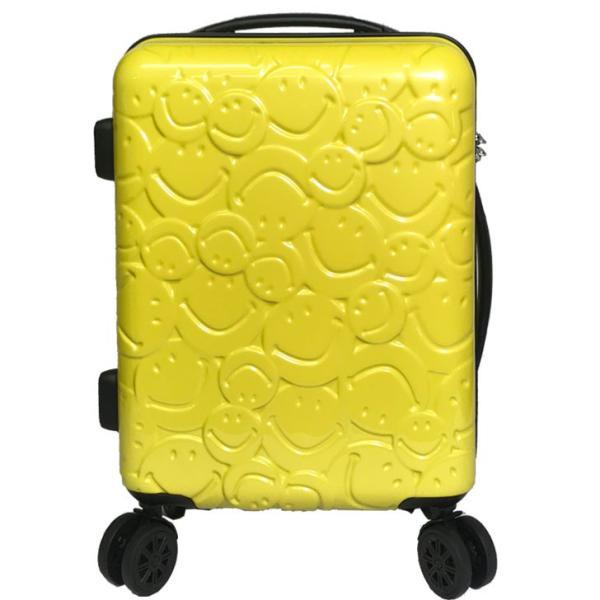 スーツケース キャラクター 機内持ち込み 8輪 ダブルキャスター TSAロック スマイル スマイリー すまいる ニコちゃん rexstar 19