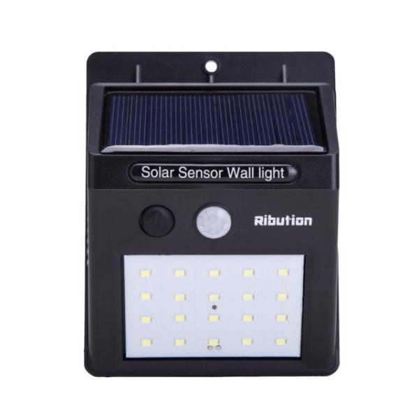 センサーライト 屋外 LED ソーラーライト 20LED 外 玄関 人感 自動点灯 防水 送料無料 ribution 10