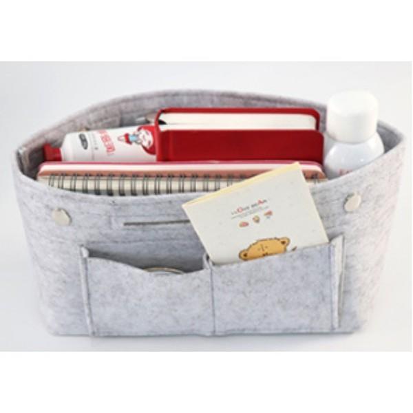 バッグインバッグ フェルト 大きい 大きめ ポケット 収納 大容量 おしゃれ インナーバッグ|ribution|13