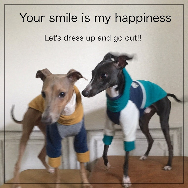 Your smile is my happiness.Let's dress up and go out !!