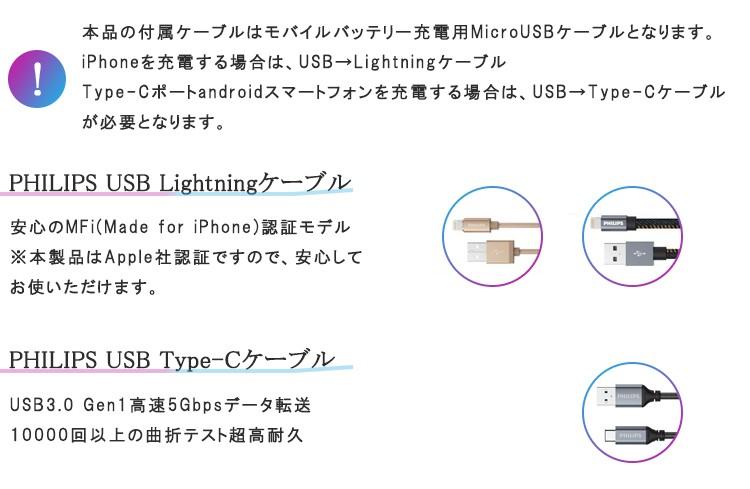 PHILIPSモバイルバッテリーDLP6712N