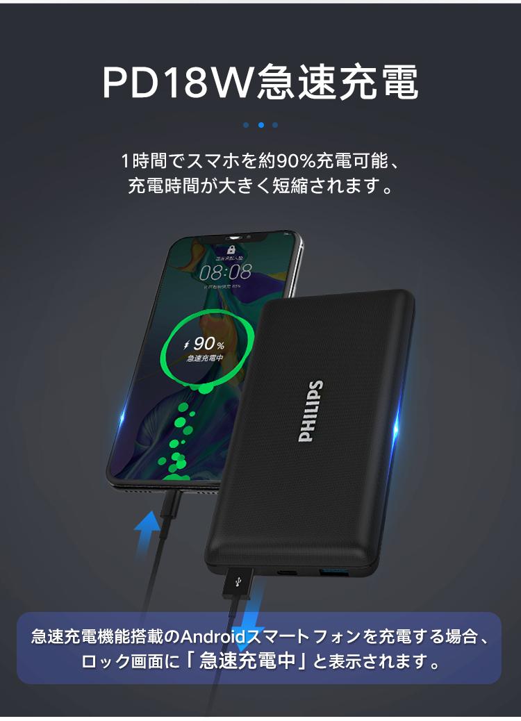 PHILIPSモバイルバッテリーDLP8720C