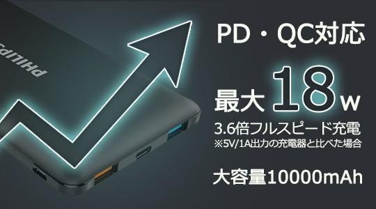 PHILIPSモバイルバッテリーDLP8712