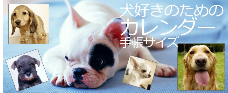 犬好きのためのカレンダー