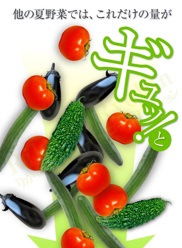 他の夏野菜では、これだけの量がギュッ!と
