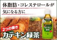 体脂肪・コレステロールが気になる方に 2つの働きカテキン緑茶