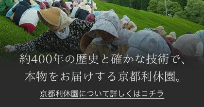 約400年の歴史が確かな技術で、本物をお届けする京都利休園。