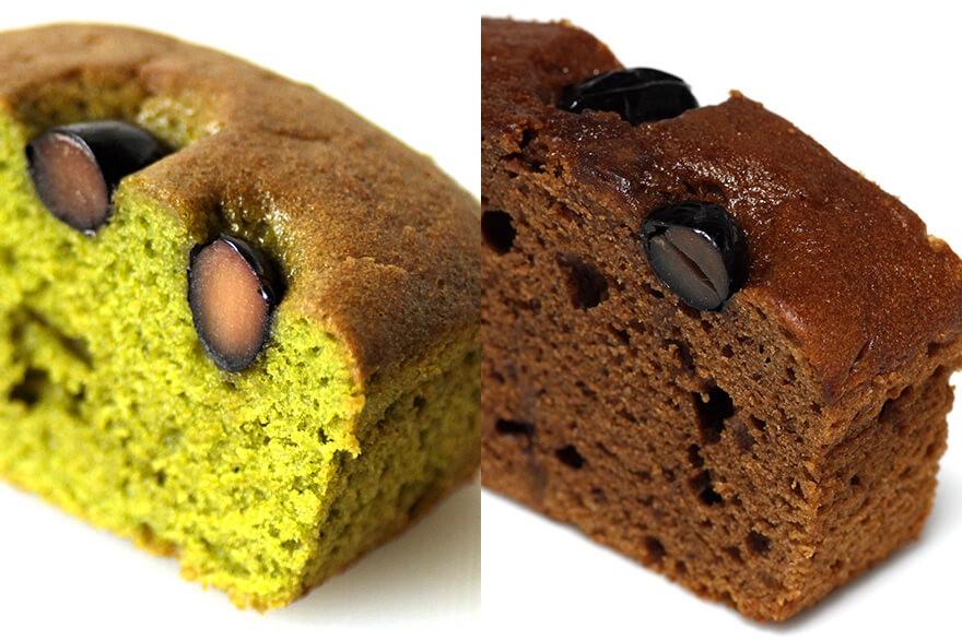 パウンドケーキ 抹茶味&ほうじ茶味