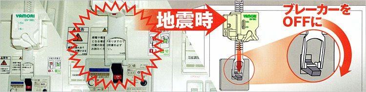 高機能な感震センサーで安心・確実に作動