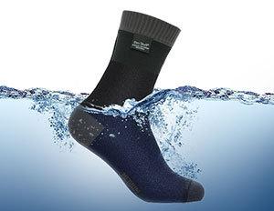 防水通気靴下 DexShellクールベントライトソックスDS638(グレー)