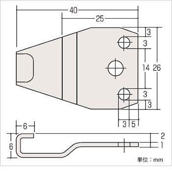 クレセント受KCW-20寸法図