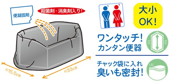 大きく使いやすい、携帯大便トイレ!