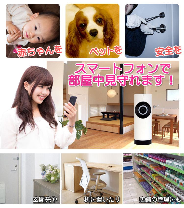 家族の見守りや防犯に使えるネットワークカメラ!