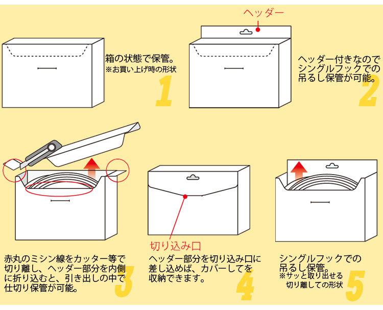 パッケージのまま収納しやすい!