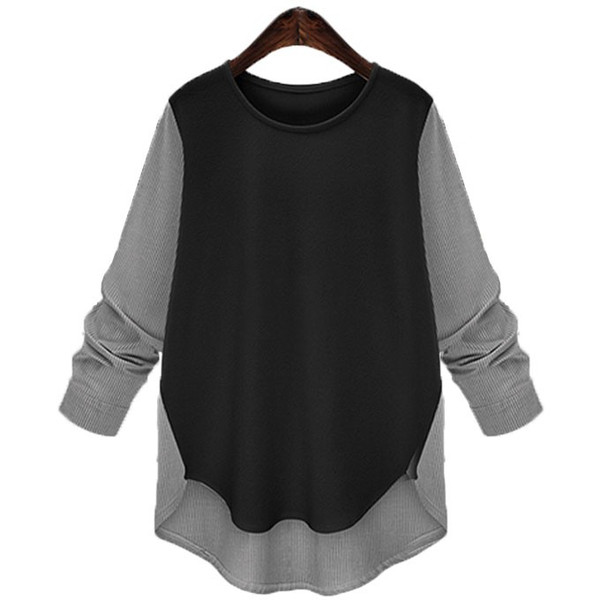 ヘム丈 ブラウス トップス カットソー Tシャツ バイカラー|rioty|17