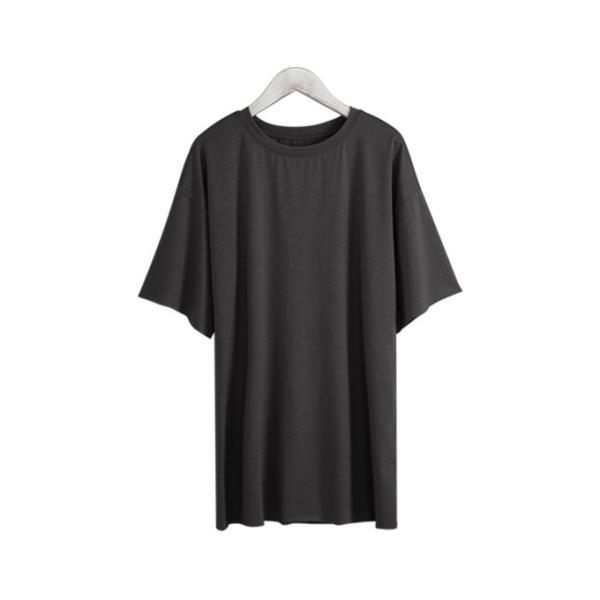 Tシャツ カジュアルシャツ トップス Tシャツ レディース 夏 ベーシック カットソー 無地 七分袖 一部即納|rioty|26
