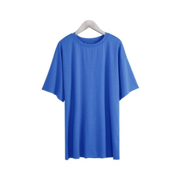 Tシャツ カジュアルシャツ トップス Tシャツ レディース 夏 ベーシック カットソー 無地 七分袖 一部即納|rioty|20