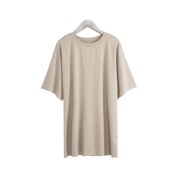 Tシャツ カジュアルシャツ トップス Tシャツ レディース 夏 ベーシック カットソー 無地 七分袖 一部即納|rioty|25