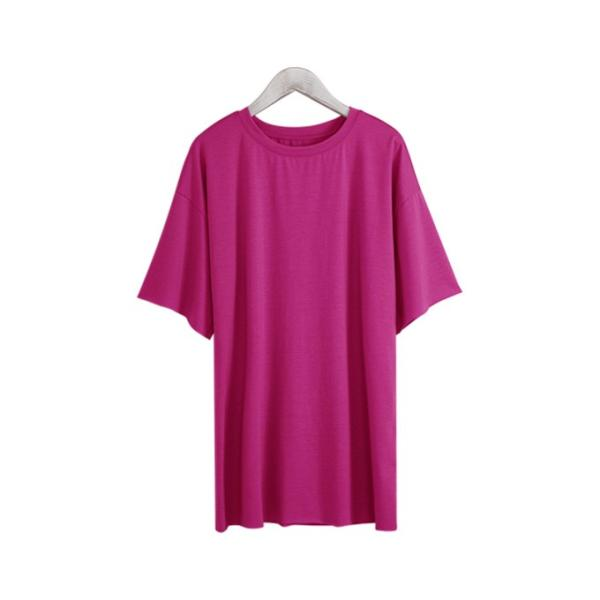 Tシャツ カジュアルシャツ トップス Tシャツ レディース 夏 ベーシック カットソー 無地 七分袖 一部即納|rioty|24