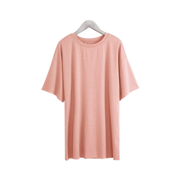 Tシャツ カジュアルシャツ トップス Tシャツ レディース 夏 ベーシック カットソー 無地 七分袖 一部即納|rioty|23