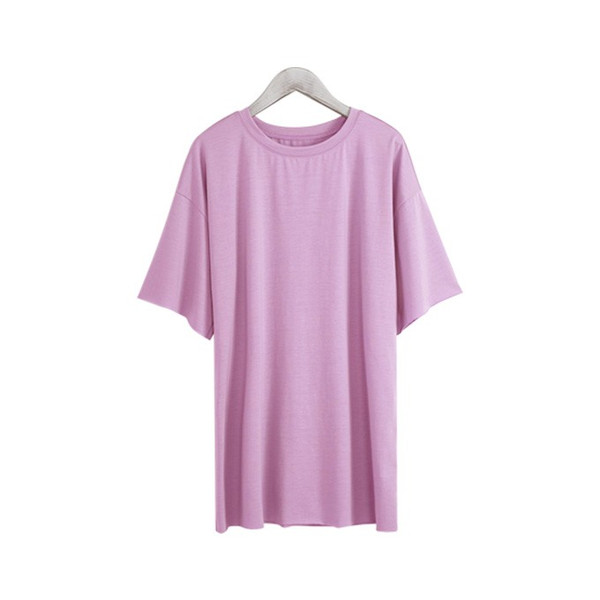 Tシャツ カジュアルシャツ トップス Tシャツ レディース 夏 ベーシック カットソー 無地 七分袖 一部即納|rioty|21