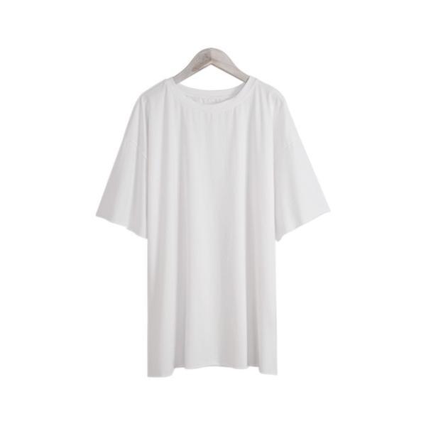 Tシャツ カジュアルシャツ トップス Tシャツ レディース 夏 ベーシック カットソー 無地 七分袖 一部即納|rioty|22