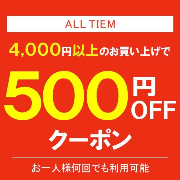4,000以上500円OFFクーポン!全商品対象
