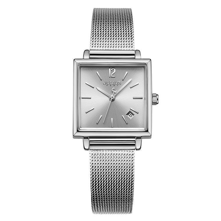 腕時計 レディース 時計 防水 ウォッチ おしゃれ シンプル  20代 30代 40代 50代 スクエア型 カレンダー JULIUS プレゼント 母の日 ギフト 四角 rirty 16