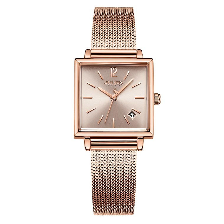 腕時計 レディース 時計 防水 ウォッチ おしゃれ シンプル  20代 30代 40代 50代 スクエア型 カレンダー JULIUS プレゼント 母の日 ギフト 四角 rirty 17