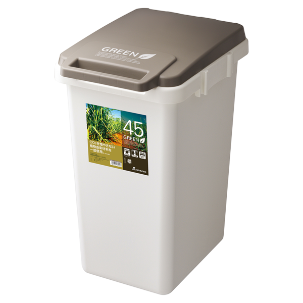 ゴミ箱 おしゃれ キッチン 45L フタ付き 分別 シンプル 定番 角型 ナチュラル ホワイト グリーン ブラウン(キッチン 台所 屋外 連結 ベランダ )|risu-onlineshop|21