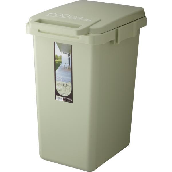 ゴミ箱 おしゃれ キッチン 45L フタ付き 分別 シンプル 定番 角型 ナチュラル ホワイト グリーン ブラウン(キッチン 台所 屋外 連結 ベランダ )|risu-onlineshop|14