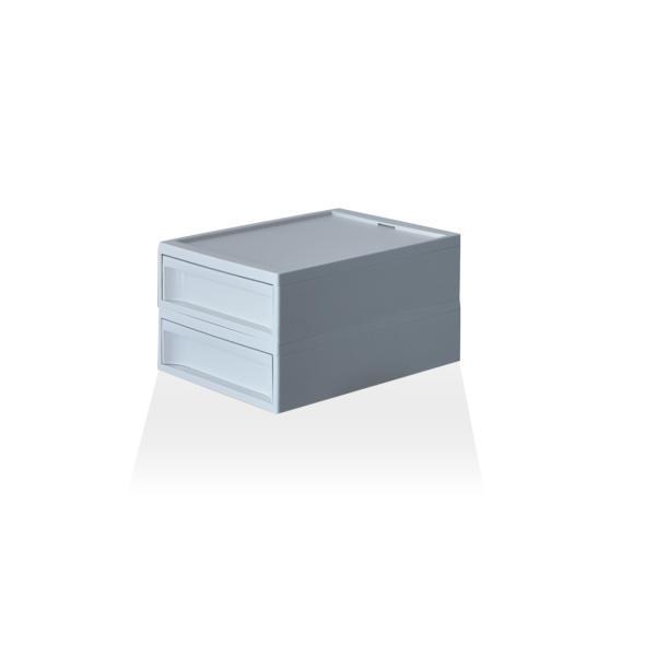 収納ケース プラスチック 引き出し おしゃれ レターケース インナーボックス 小物入れ スタックシステムケース レギュラー S【2段セット】|risu-onlineshop|17
