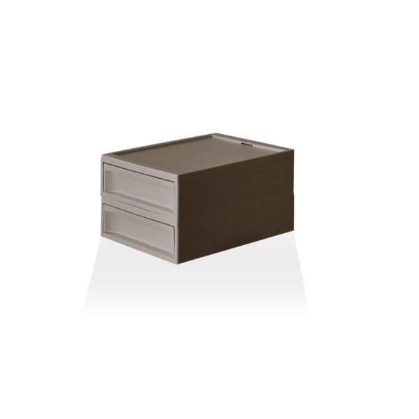 収納ケース プラスチック 引き出し おしゃれ レターケース インナーボックス 小物入れ スタックシステムケース レギュラー S【2段セット】|risu-onlineshop|16