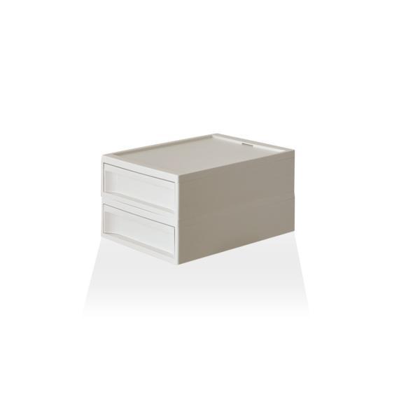 収納ケース プラスチック 引き出し おしゃれ レターケース インナーボックス 小物入れ スタックシステムケース レギュラー S【2段セット】|risu-onlineshop|15