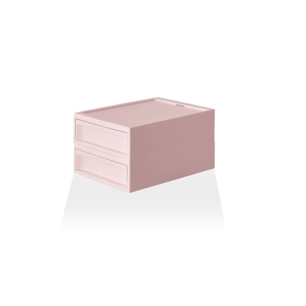 収納ケース プラスチック 引き出し おしゃれ レターケース インナーボックス 小物入れ スタックシステムケース レギュラー S【2段セット】|risu-onlineshop|18